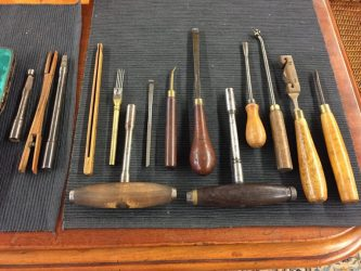 Old piano tuner's tools
