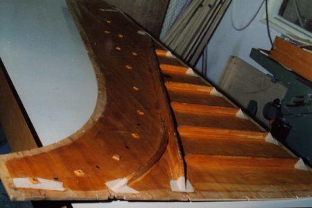 Ribs on soundboard Broadwood