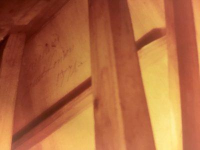 Broadwood's signature under the soundboard