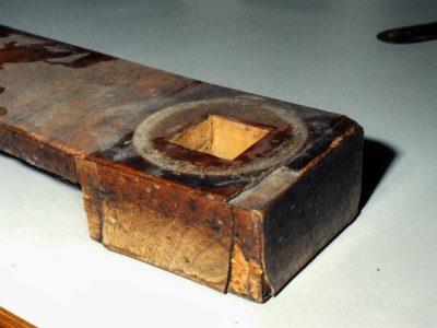 Woodwork on stretcher