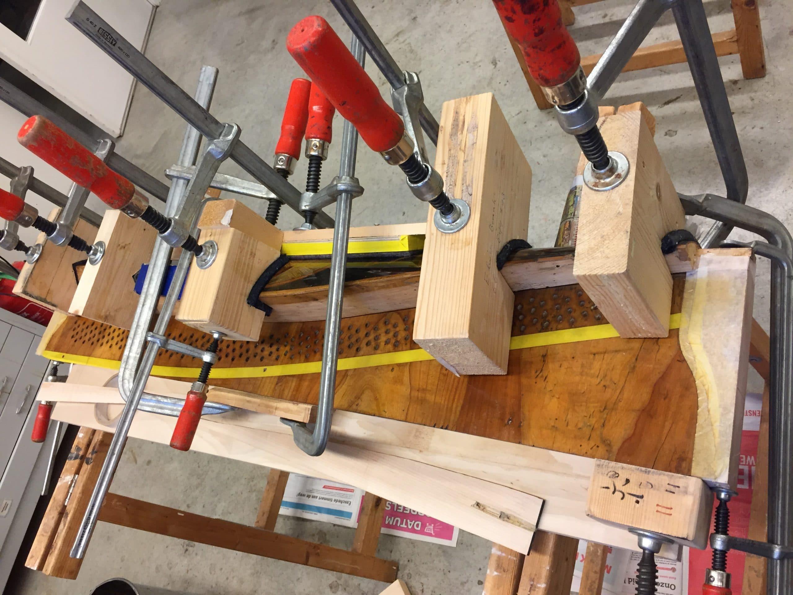17. Glueing the (painted) yoke back